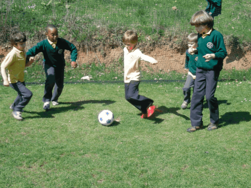 Children Playing Soccer at Forest International School Paris